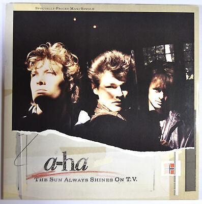 """A-HA - The Sun Always Shines On T.V. - 12"""" Maxi Single - Near Mint Synth-pop"""