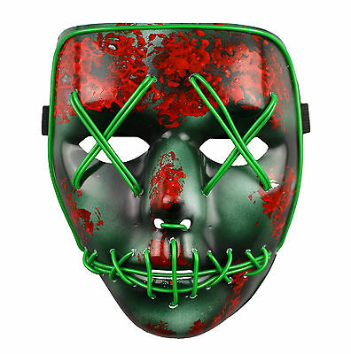 Purge-maske Halloween (The Purge Maske Led Wahl Jahr Film Rave Party Fest Halloween Kostüm)