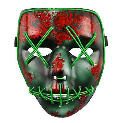 The Purge Maske Led Wahl Jahr Film Rave Party Fest Halloween (Purge-maske Halloween)