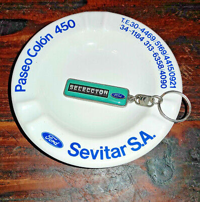 VINTAGE OLD RARE FORD ARGENTINA ASHTRAY & KEYCHAIN LOT ADVERTISING