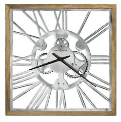 NEW HOWARD MILLER - 625679 MECHA OVERSIZED  SQUARE GALLERY WALL CLOCK  625679