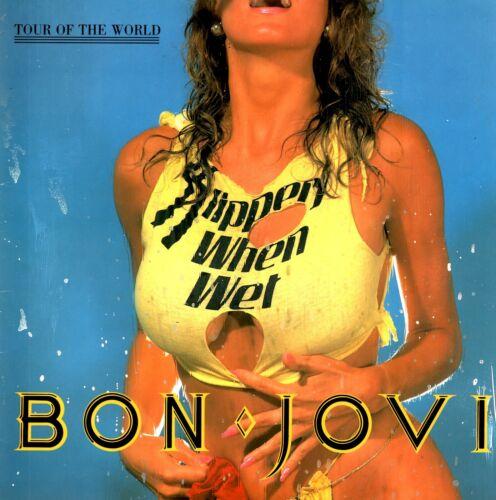 BON JOVI 1987 SLIPPERY WHEN WET TOUR PROGRAM BOOK / RICHIE SAMBORA / NMT 2 MINT