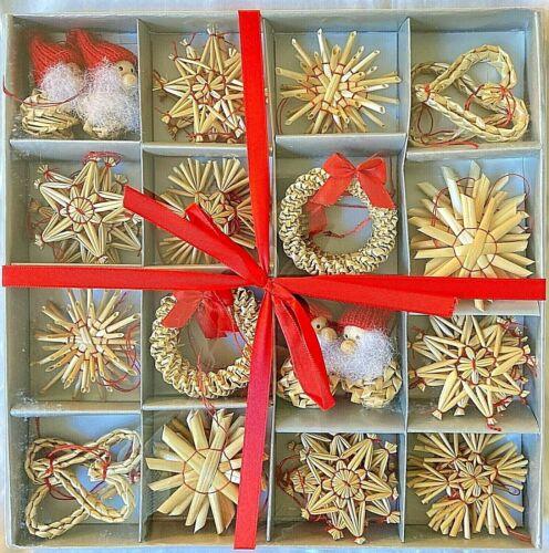 48 Scandinavian Straw Christmas Ornaments Swedish Norwegian Danish