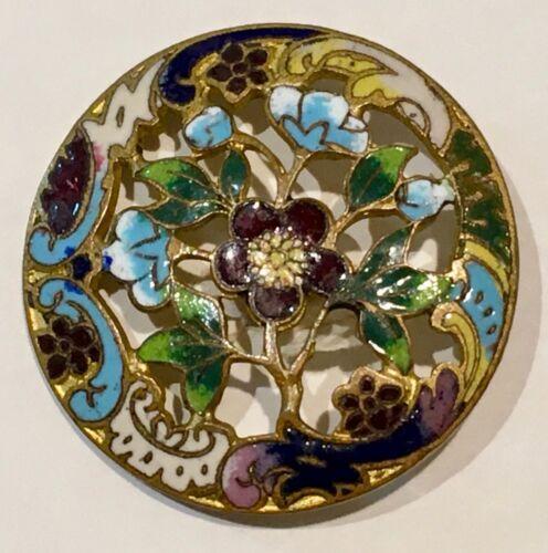 Antique French Enamel Button