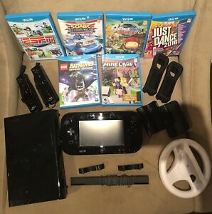 Wii u console bundle + games.  Excellent used condition