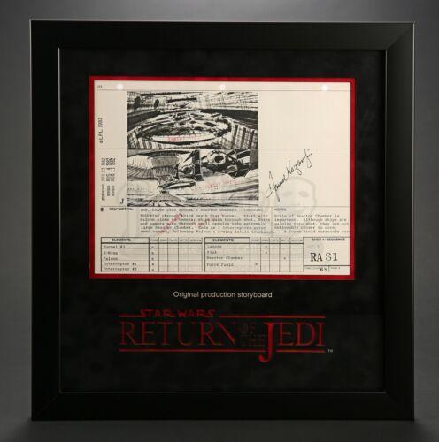 Star Wars - Ep VI - ROTJ Signed Production Storyboard - Death Star Tunnel (J28)