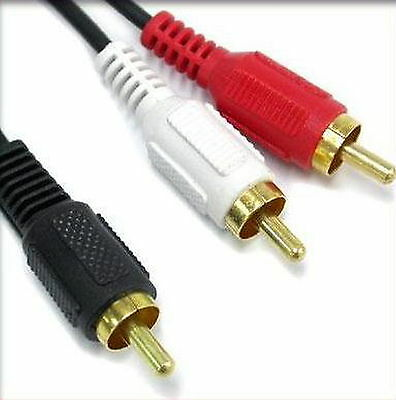 ALL Male 1RCA GOLD Audio Video 2.8Ø Single RCA Composite Cable 5M 15FT