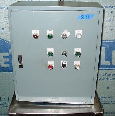 Mild Steel Electric Control Box W Latch Samsung Brain Spc-24s. Switches Relays