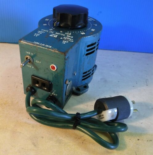VARIABLE VOLTAGE TRANSFORMER Manufactured By Staco...0-140 Volts A C
