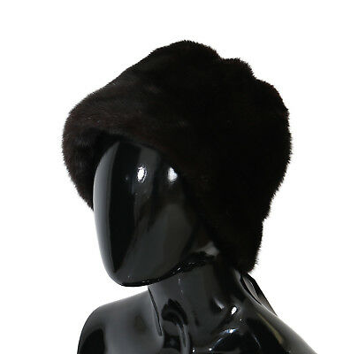 NEW $6200 DOLCE & GABBANA Hat Mink Fur Womens Brown Beanie Cashmere s. 57 / M