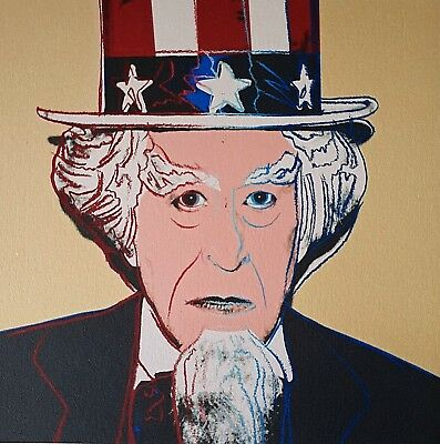 Andy Warhol, Myths Uncle Sam FS II.259 1981, Plate Signed Lithograph