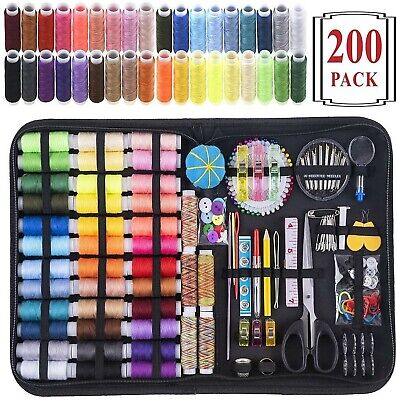 Sewing Kit, 200 Premium Sewing Supplies, 41 XL Thread Spools, Suitable for Trave