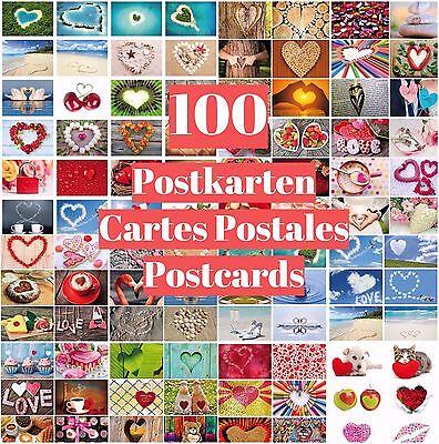 """100-er Postkarten-Box """"LIEBE"""" für Hochzeit, Valentinstag, Postcrossing etc."""