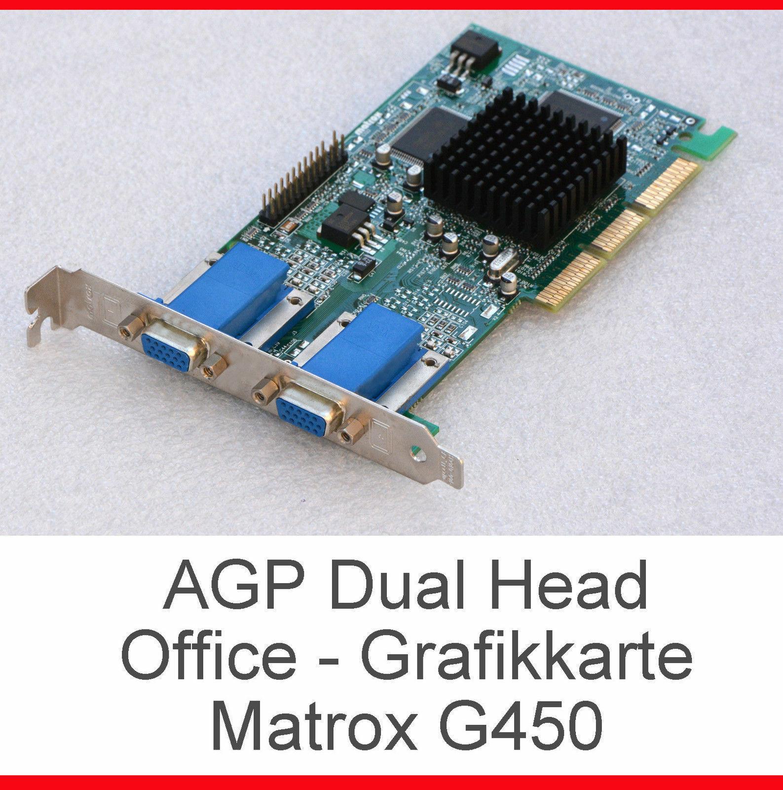 LAUTLOSE DUAL HEAD 3D OFFICE GRAFIKKARTE FÜR 2 MONITORE MATROX G45+ 32MB MGA G20