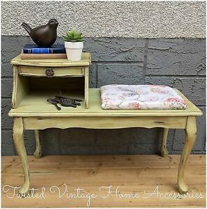 Queen Anne Style Telephone Bench or Entry Table