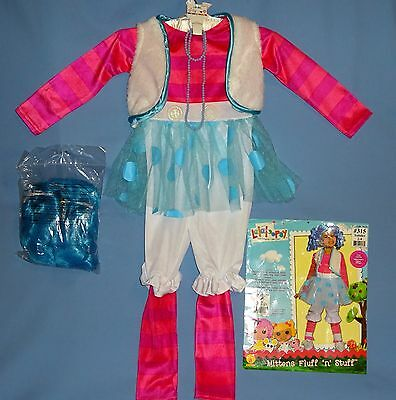 Lalaloopsy Mittens Fluff 'n' stuff Costume;toddler 2-4;blue wig-bows;jewelry;LOT](Lalaloopsy Mittens Costume)