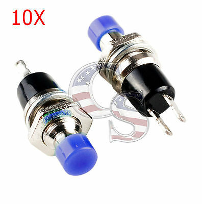 New Blue 10pcs Mini Momentary Onoff Lockless Micro Push Button Spst Switch