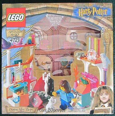 LEGO~4723~HARRY POTTER~DIAGON ALLEY SHOPS~80 PCS~1 MINIFIG~NEW SEALED BOX~2001