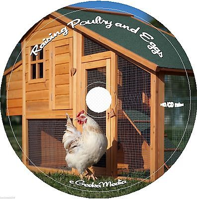 Raise Chicken Poultry Egg & Coop Plans Books on DVD Game Birds Ducks Geese Fowl