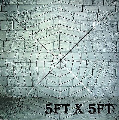 Giant 150cm 5ft Halloween Shop Party Spiders Webbing Spider Web Decoration Prop