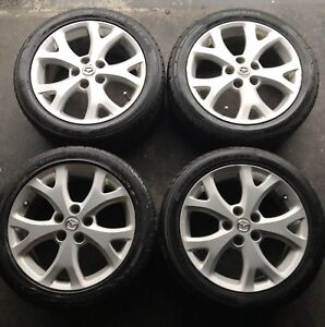 "17"" Mazda rims with summer tires 5x114.3"