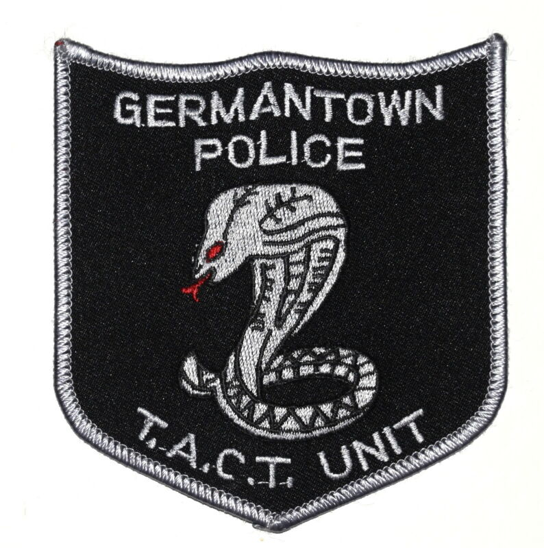 GERMANTOWN – SWAT – TENNESSEE TN Sheriff Police Patch TACT UNIT COBRA SNAKE ~