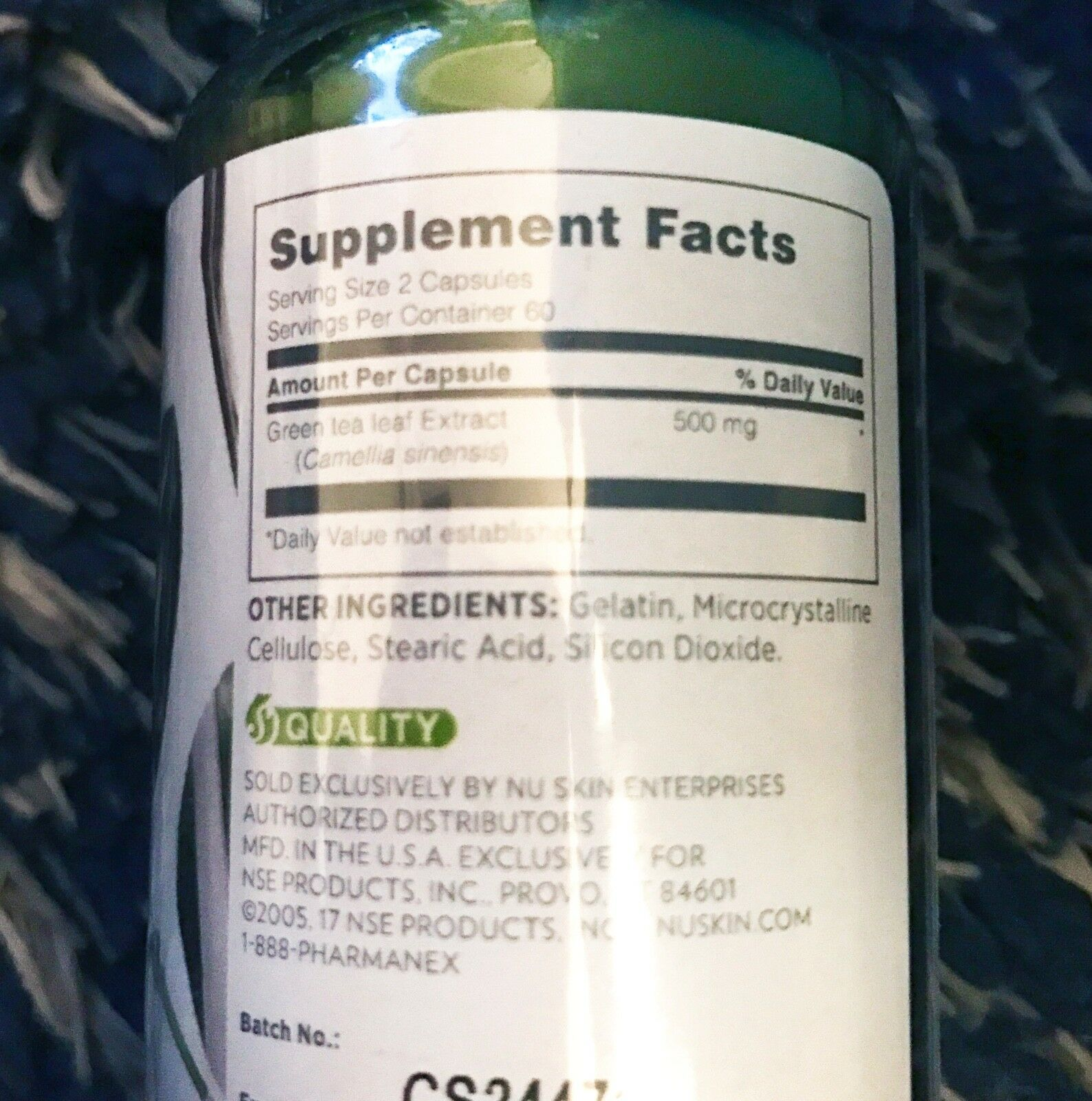 Nu Skin Nuskin Pharmanex Tegreen 97 cell protection antioxidant 120 ...