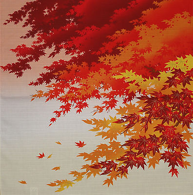Furoshiki Wrapping Cloth Japanese Fabric 'Maple Leaves in Autumn' Cotton 50cm