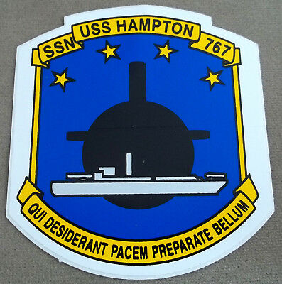 US Navy Decal - Sticker - USS Hampton SSN 767