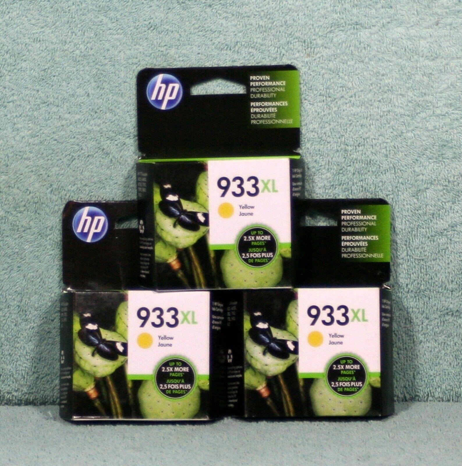HP Original Genuine Replacement Ink Cartridge Yellow 933XL Exp. 03/22 New In Box - $18.95