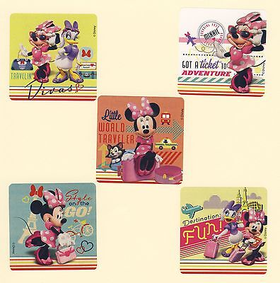 10 Minnie Mouse Jet Setter - Large Stickers - Daisy Duck - Party -