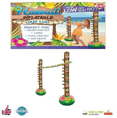 3pcs INFLATABLE LIMBO SET Blow Up Hawaiian Beach Luau Pool Party Birthday Game ](Hawaiian Luau Games)