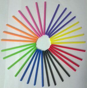 50-X-190MM-7-5-PLASTIC-ROUND-COLOURED-LOLLYPOP-STICKS-LOLLIPOP-CRAFT-COOKIE