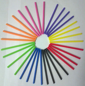 190mm-7-5-LOLLY-POP-STICKS-LOLLIPOP-COOKIE-CRAFT-WHITE-BLACK-PINK-PURPLE-ORANGE