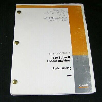 Case 580 Super K Construction King Loader Backhoe Tractor Parts Manual Book Oem