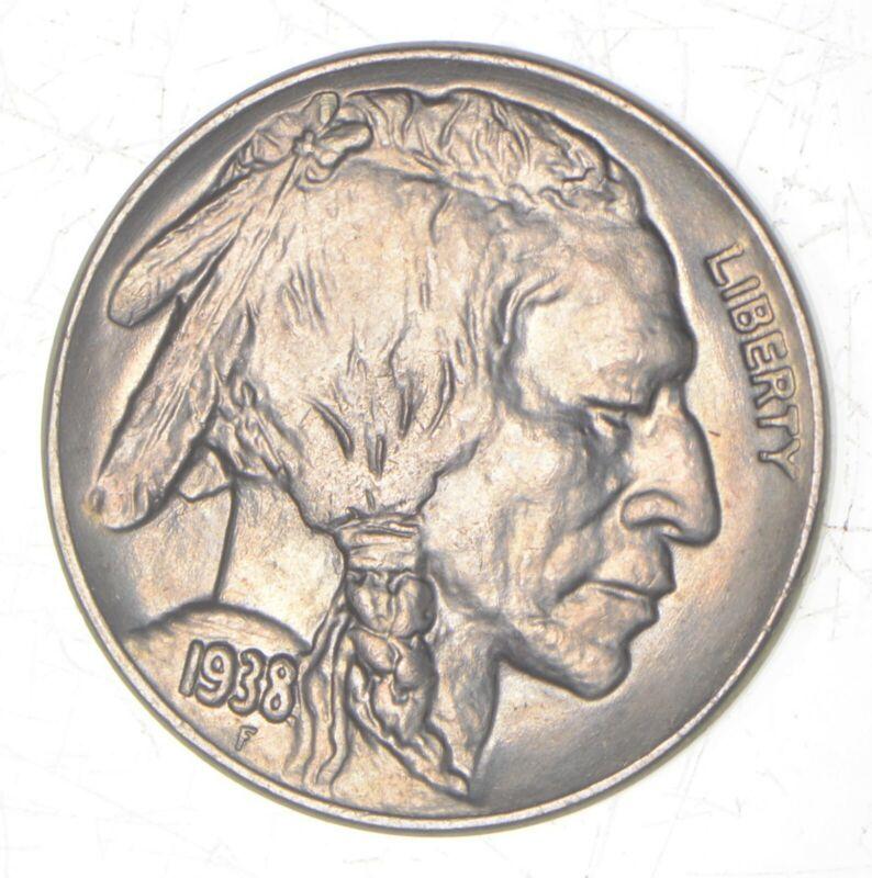 GEM BU 1938-D Indian Head Buffalo Nickel - from Uncirculated Roll - Last Year