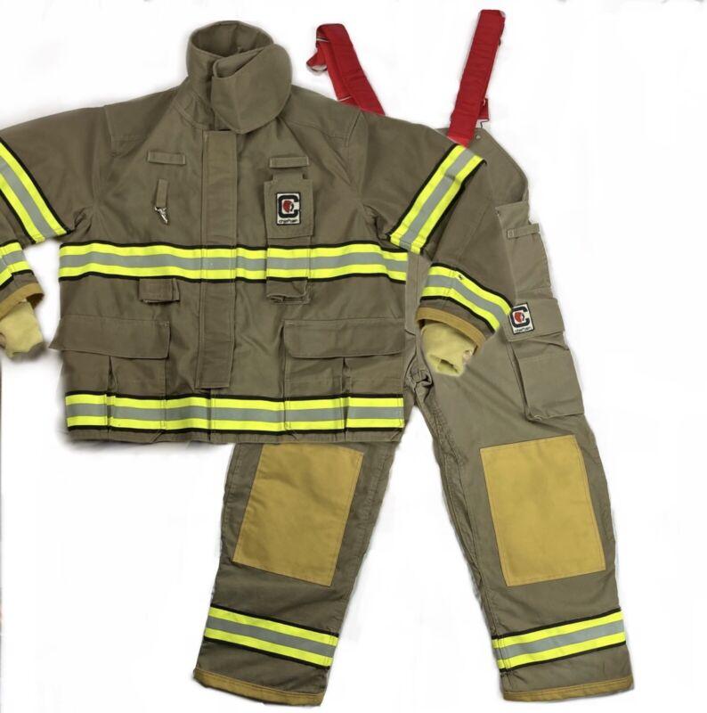 Firefighter Turnout Gear Jacket Coat Pants Bunker Suit Size XL Chieftain 3200