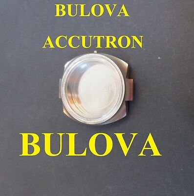 bulova accutron cassa mlb 7280-2 x cal 2182 F acciaio case watch stainless steel
