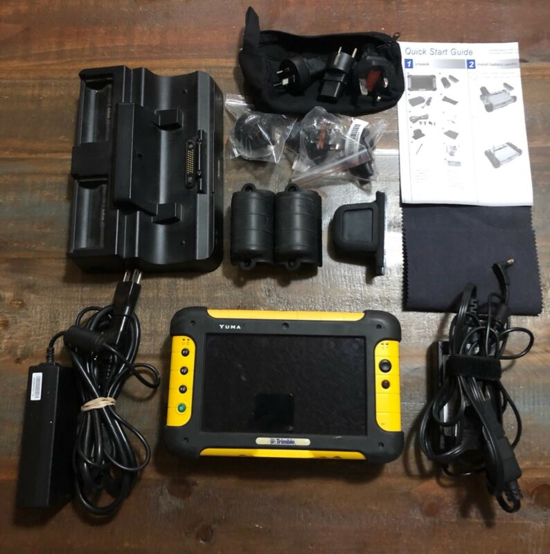 Trimble Yuma Tablet 80GB Rugged Handheld Computer PC 5817A-YUMA #1 w/Extras