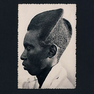 Ruanda-Urundi YOUNG MAN w FANCY HAIRSTYLE / IRRE FRISUR Afrika * 50s Ethnic PC  ()