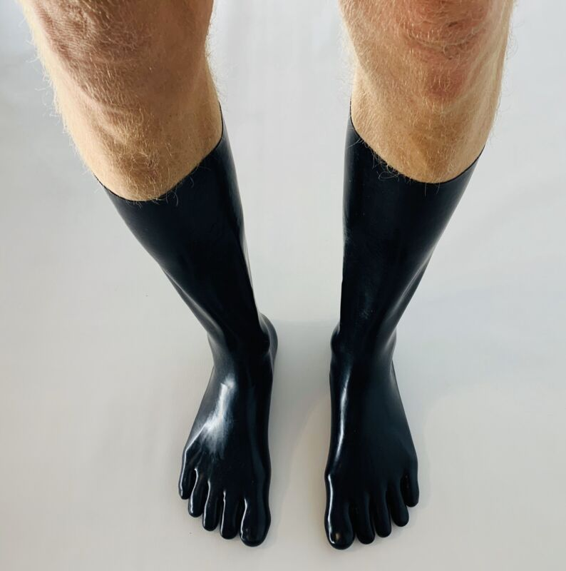 Latex Rubber Toes Socks fashion for catsuit 0.6mm Medium Size