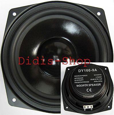 """165 mm 6,5"""" Bass Lautsprecher 80w 8ohm Basslautsprecher 80 Watt NEU 165mm"""