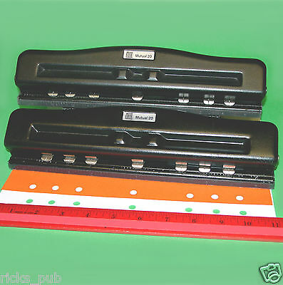 Acco Mutual Adjustable 357 Hole Paper Punch Organizer Day-timer Franklin Covey