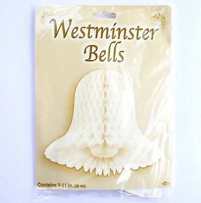 Westminster Bells Paper Hanging Decoration Honeycombe  11