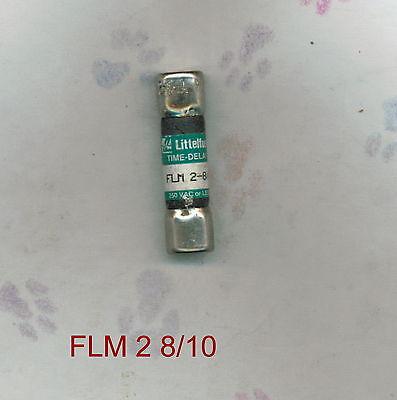NEW LITTELFUSE FLM 2 8/10 FUSE 2 8/10 AMP 250 VOLTS