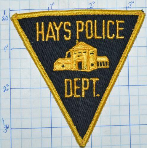 KANSAS, HAYS POLICE DEPT TRIANGLE PATCH