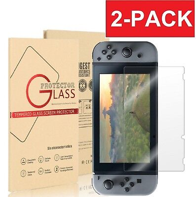 (2-Pack) Nintendo Film Tempered Glass Screen Protector for Nintendo Switch US
