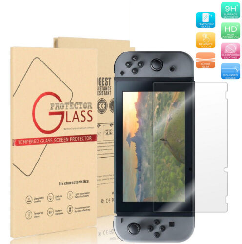 9H+ Nintendo Switch Ultra Clear Slim Premium Tempered Glass Screen Protector USA