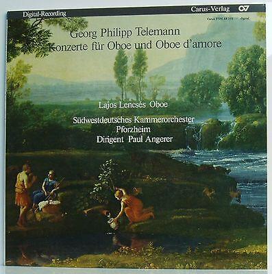 LP Telemann Konzerte für Oboe & Oboe d'amore Lencses SWKP Angerer Carus mint