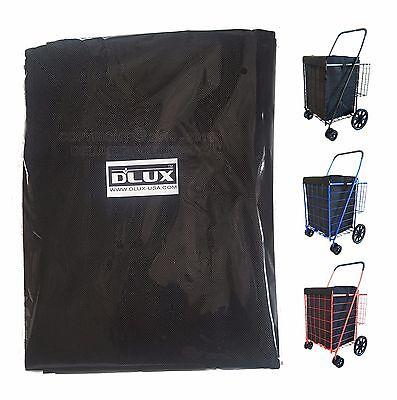 Dlux Liner Bag Only For Folding Shopping Cart Basket Black